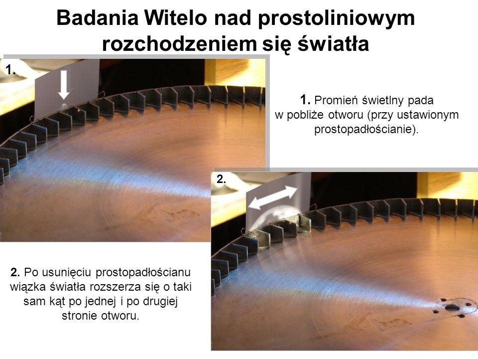 Badania Witelo nad prostoliniowym rozchodzeniem się światła