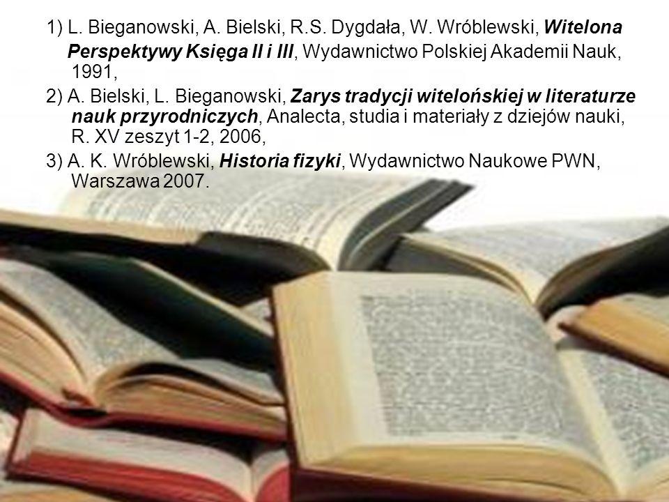 1) L. Bieganowski, A. Bielski, R.S. Dygdała, W. Wróblewski, Witelona