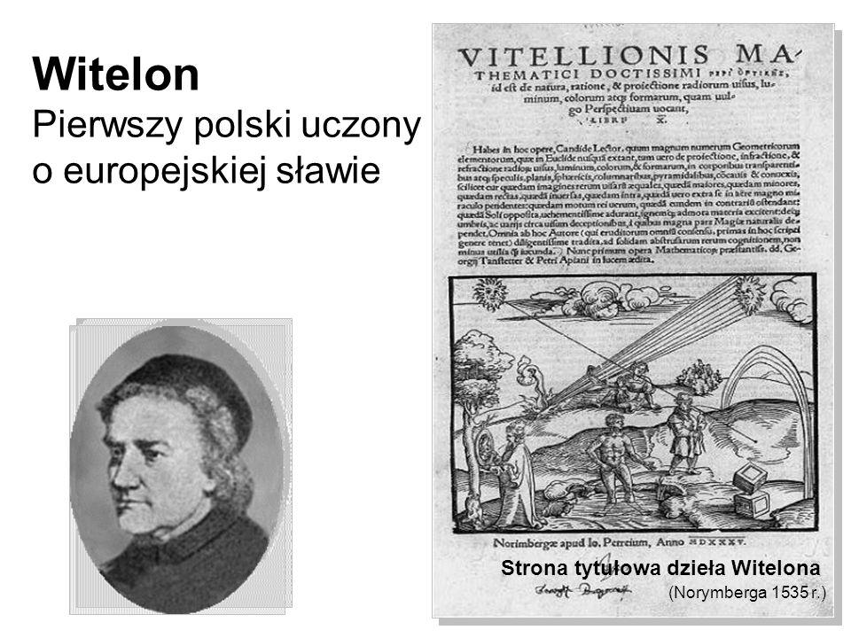 Witelon Pierwszy polski uczony o europejskiej sławie