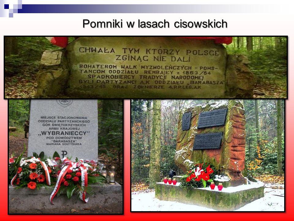 Pomniki w lasach cisowskich