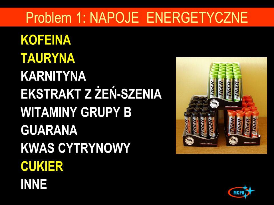 Problem 1: NAPOJE ENERGETYCZNE