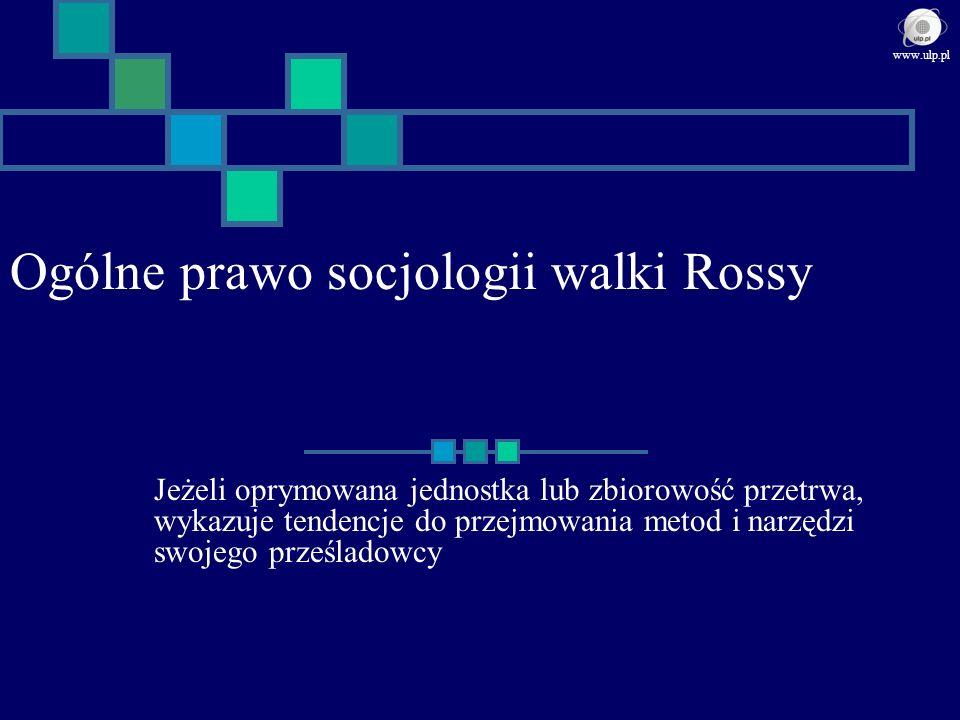Ogólne prawo socjologii walki Rossy