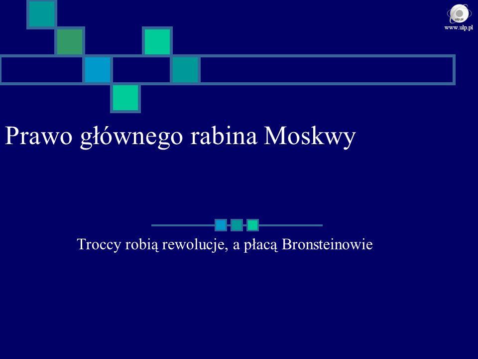 Prawo głównego rabina Moskwy