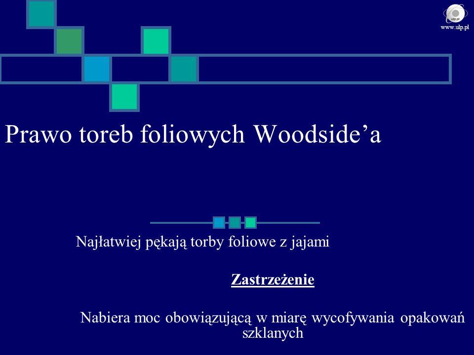 Prawo toreb foliowych Woodside'a