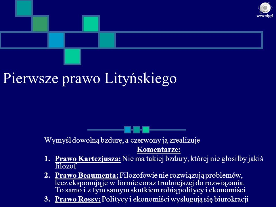 Pierwsze prawo Lityńskiego