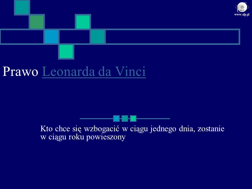 Prawo Leonarda da Vinci