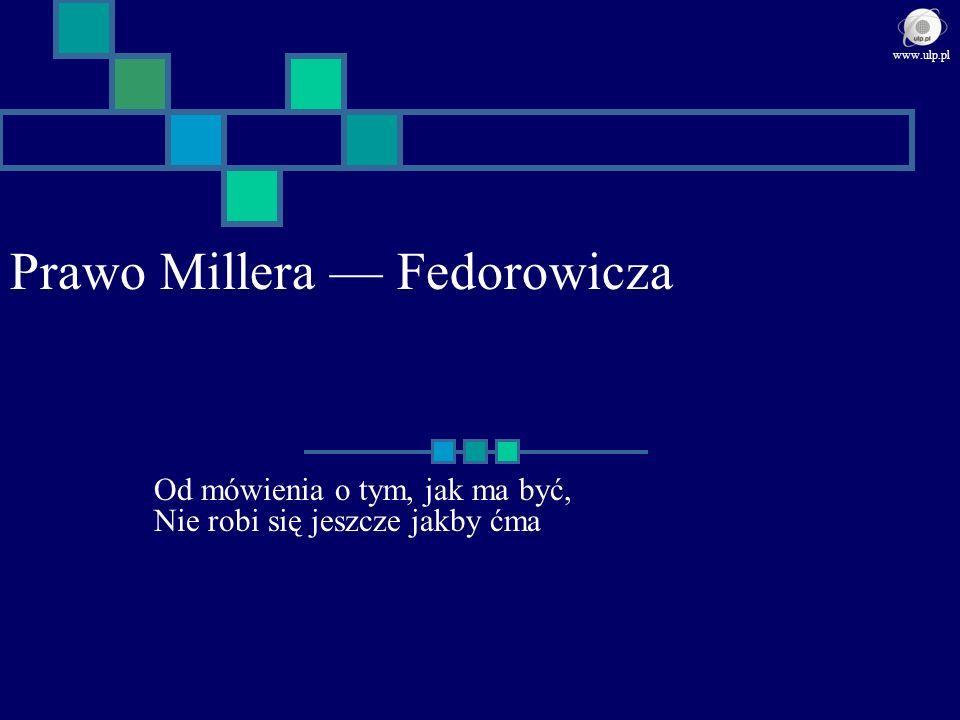 Prawo Millera — Fedorowicza