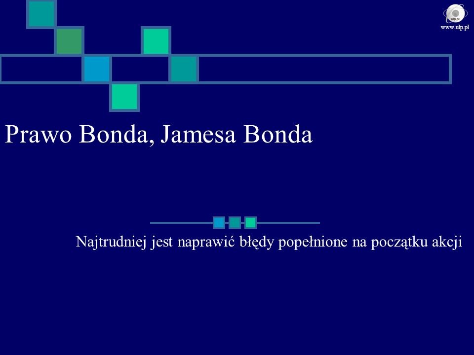 Prawo Bonda, Jamesa Bonda