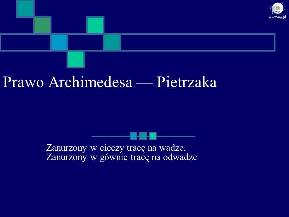 Prawo Archimedesa — Pietrzaka