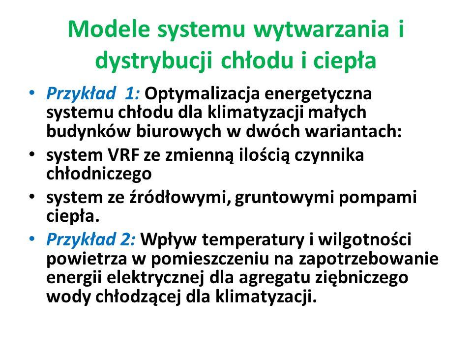 Modele systemu wytwarzania i dystrybucji chłodu i ciepła