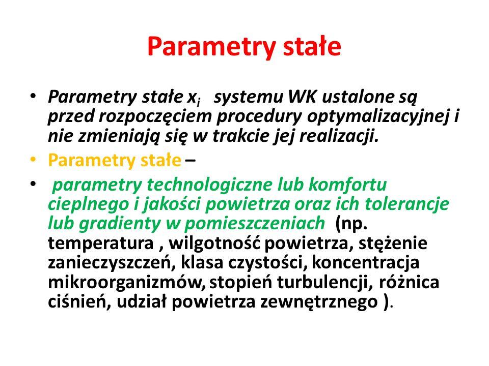 Parametry stałe