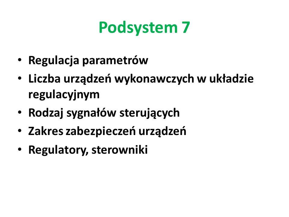 Podsystem 7 Regulacja parametrów