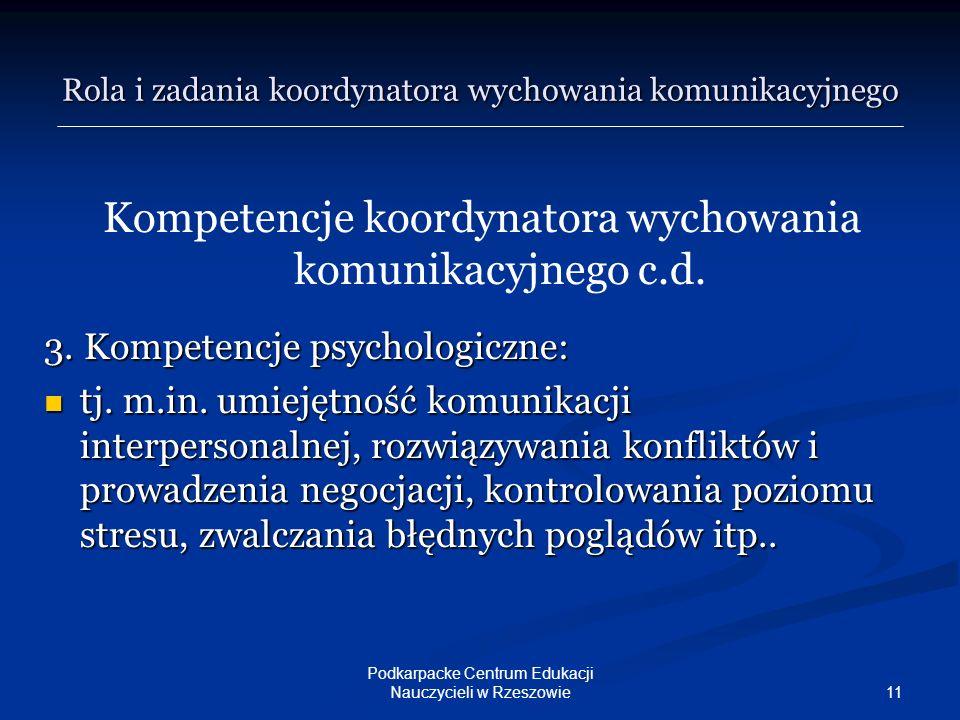Rola i zadania koordynatora wychowania komunikacyjnego