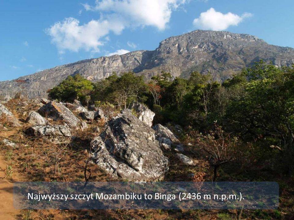 Najwyższy szczyt Mozambiku to Binga (2436 m n.p.m.).