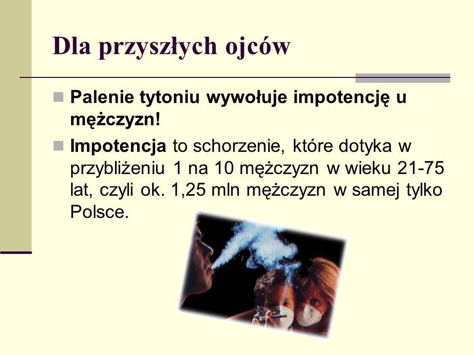 Dla przyszłych ojców Palenie tytoniu wywołuje impotencję u mężczyzn!