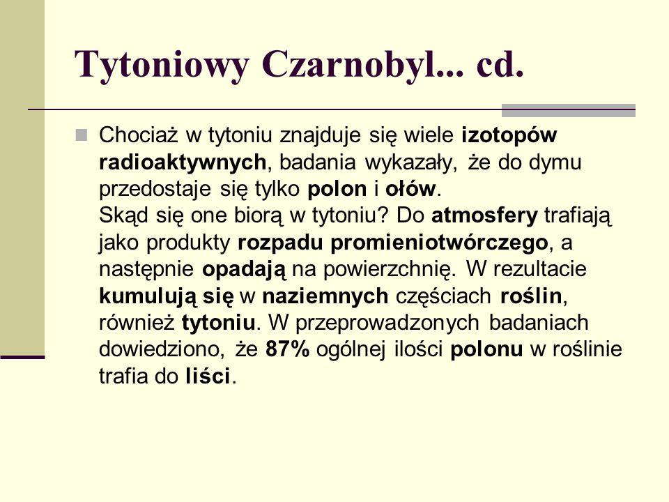 Tytoniowy Czarnobyl... cd.