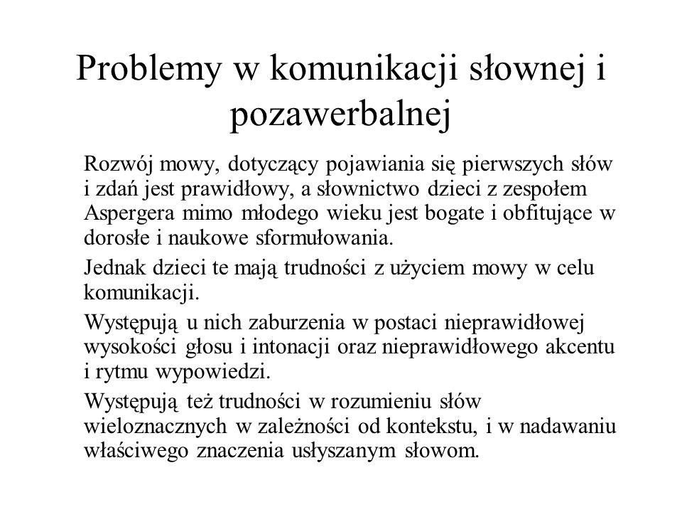 Problemy w komunikacji słownej i pozawerbalnej