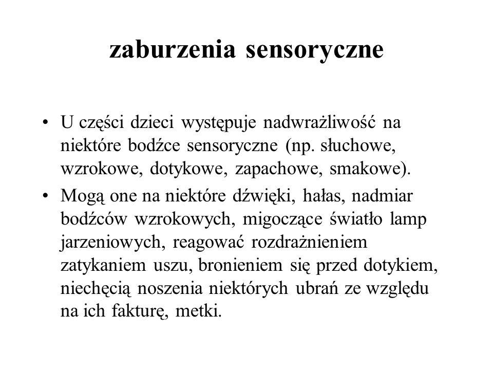 zaburzenia sensoryczne