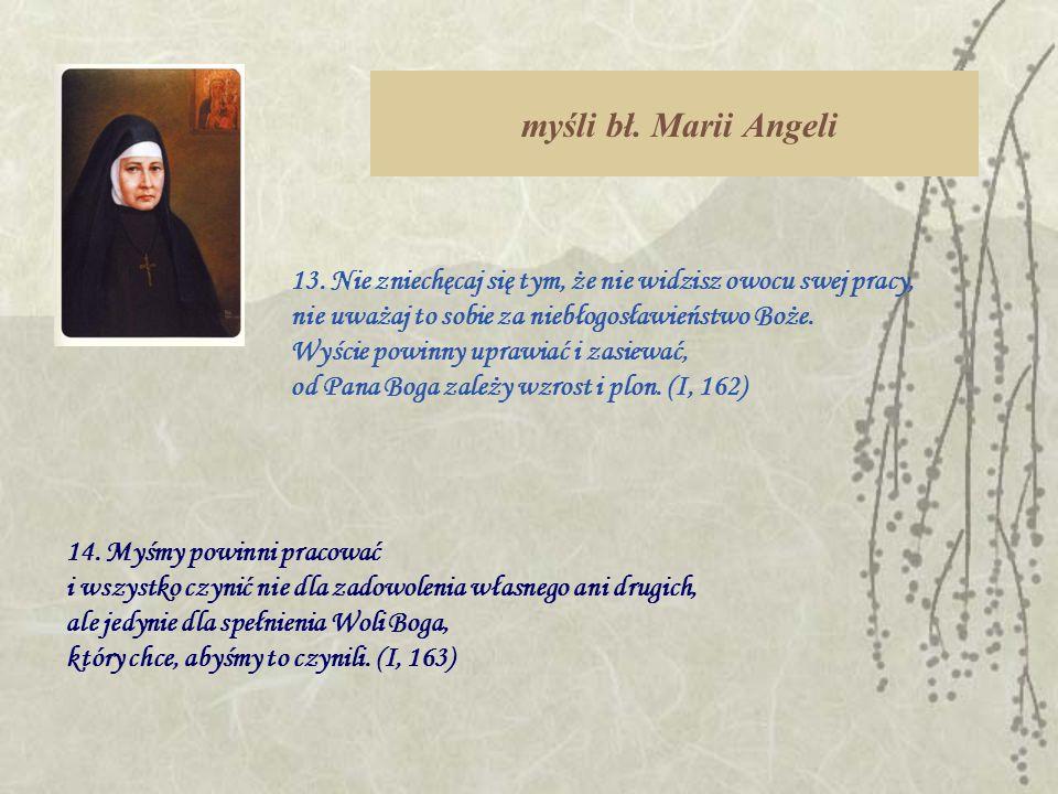 myśli bł. Marii Angeli