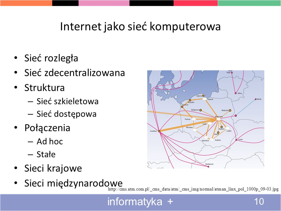 Internet jako sieć komputerowa