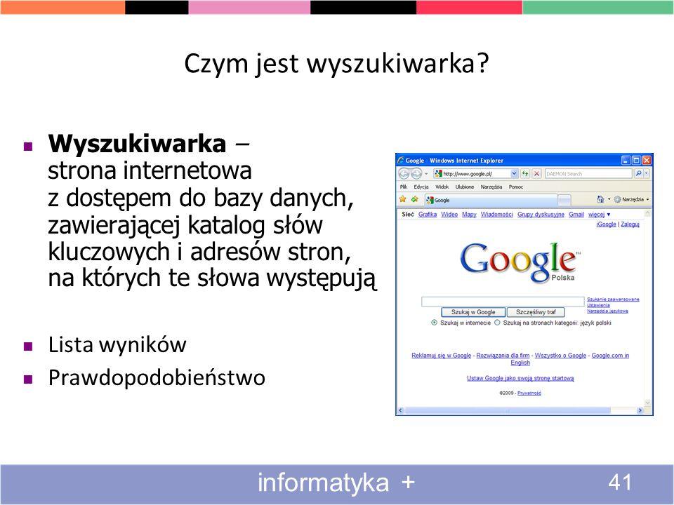 Czym jest wyszukiwarka