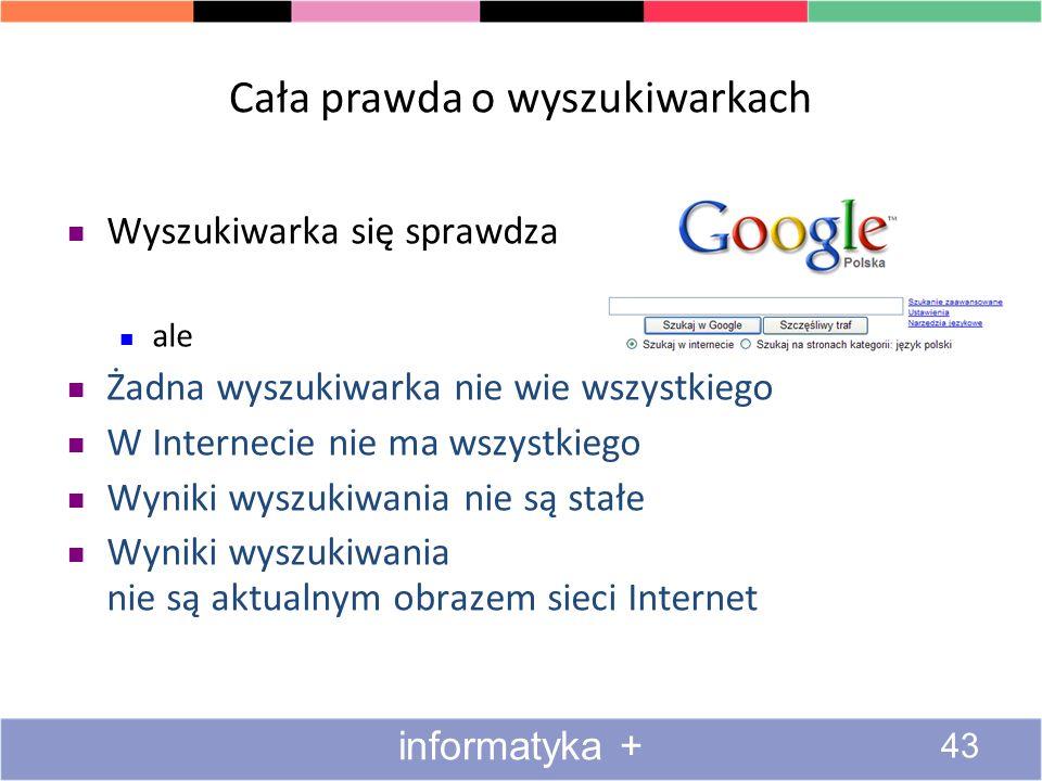 Cała prawda o wyszukiwarkach