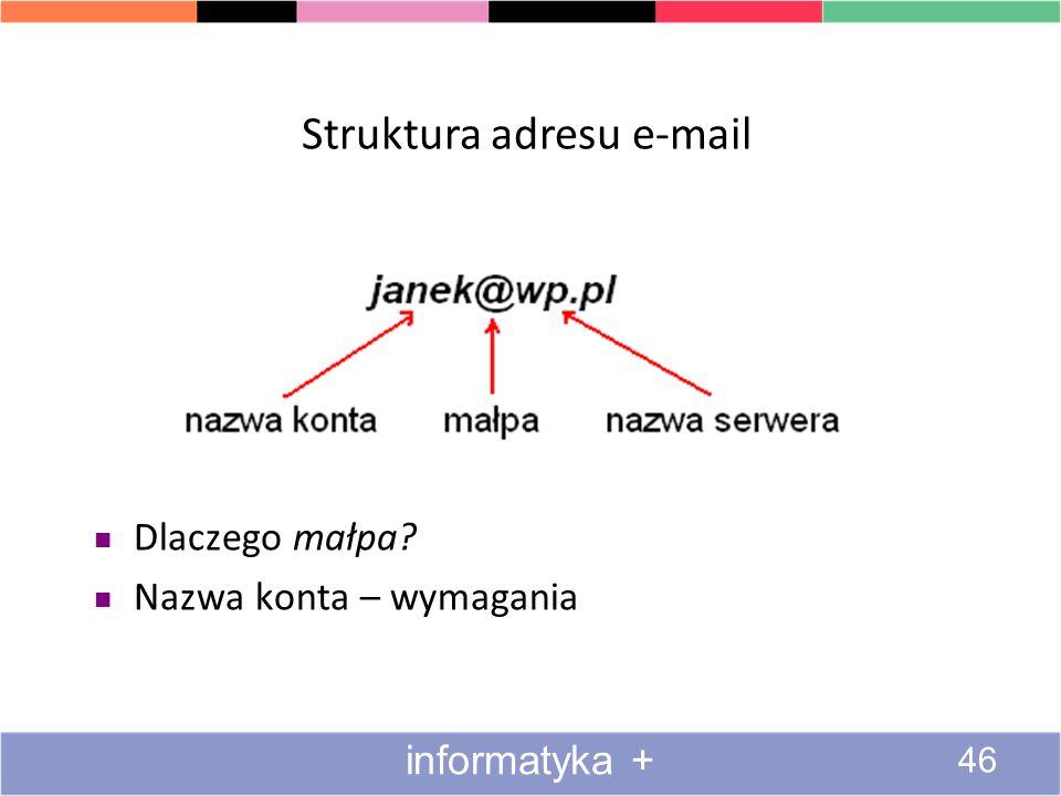 Struktura adresu e-mail