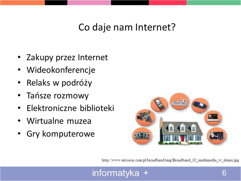 Co daje nam Internet Zakupy przez Internet Wideokonferencje