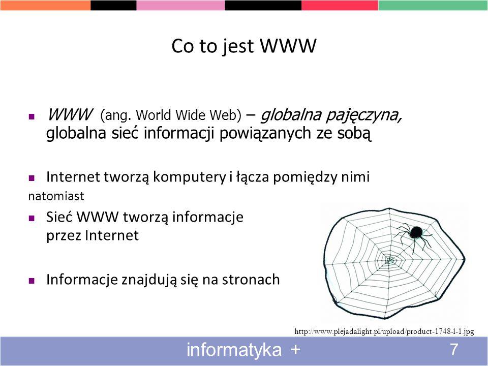 Co to jest WWW informatyka +