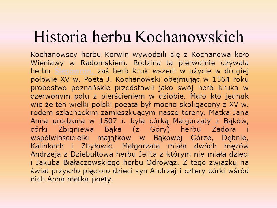 Historia herbu Kochanowskich