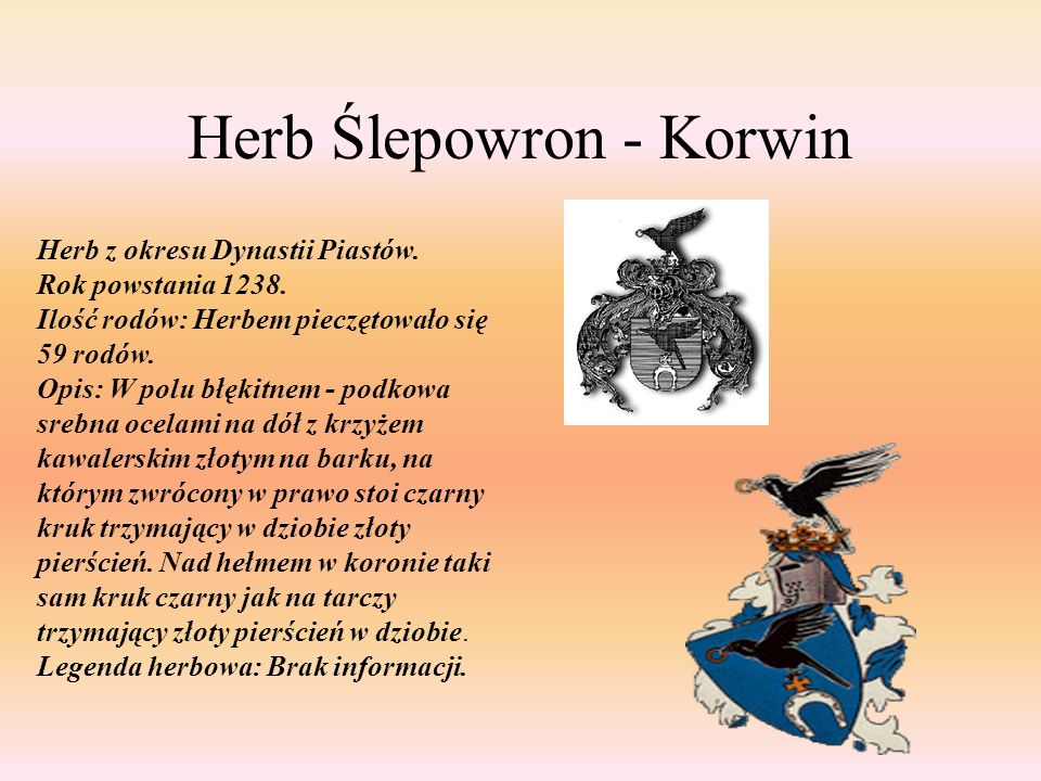 Herb Ślepowron - Korwin