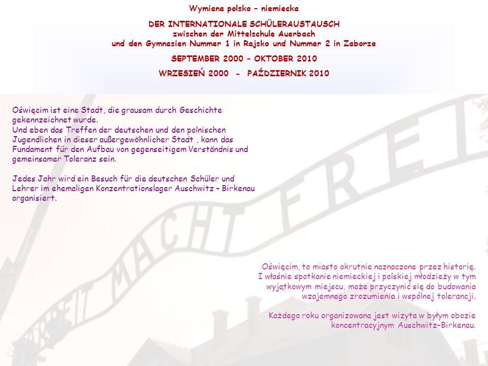 Wymiana polsko – niemiecka DER INTERNATIONALE SCHÜLERAUSTAUSCH