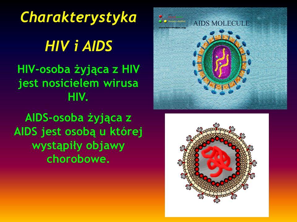 HIV-osoba żyjąca z HIV jest nosicielem wirusa HIV.