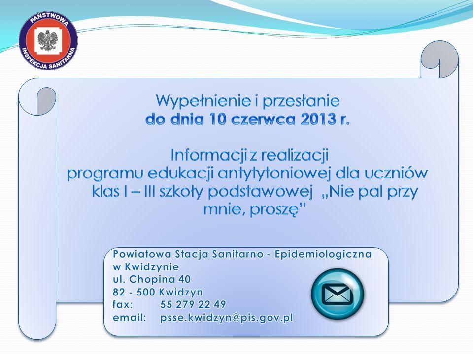 Wypełnienie i przesłanie do dnia 10 czerwca 2013 r.