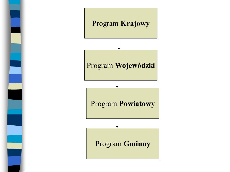 Program Krajowy Program Wojewódzki Program Powiatowy Program Gminny