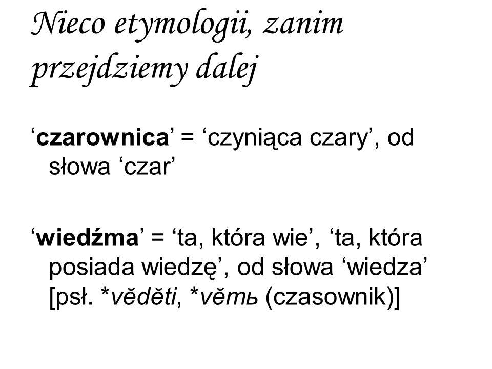 Nieco etymologii, zanim przejdziemy dalej