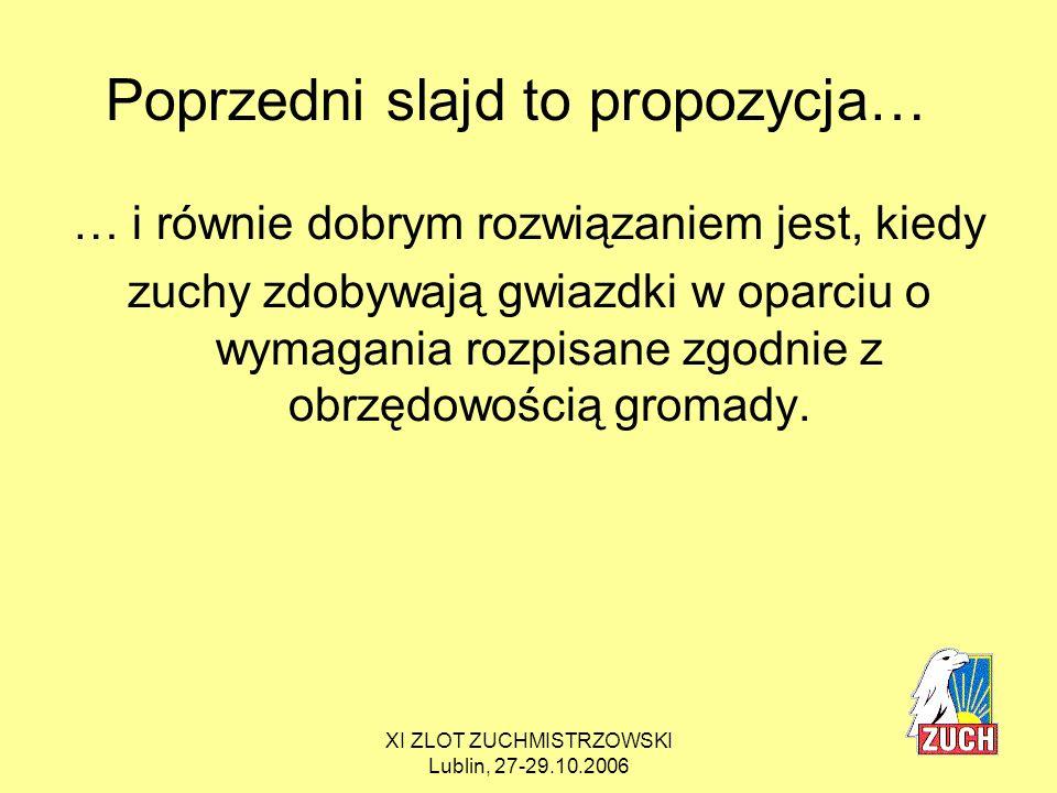 Poprzedni slajd to propozycja…