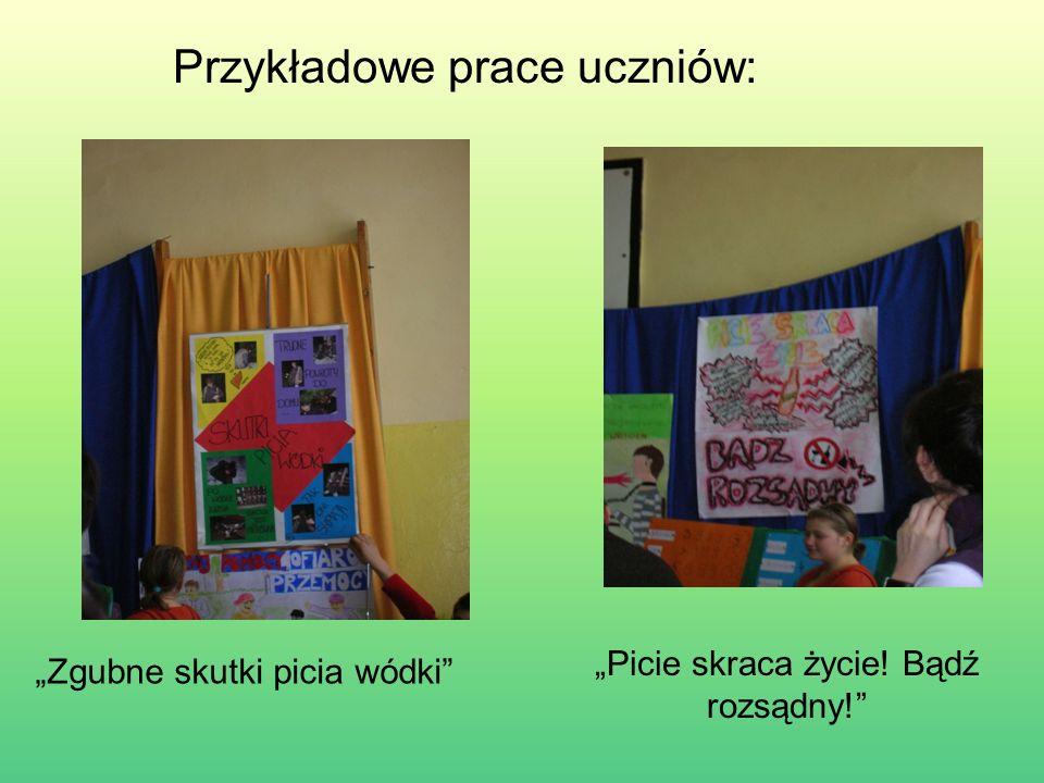 Przykładowe prace uczniów: