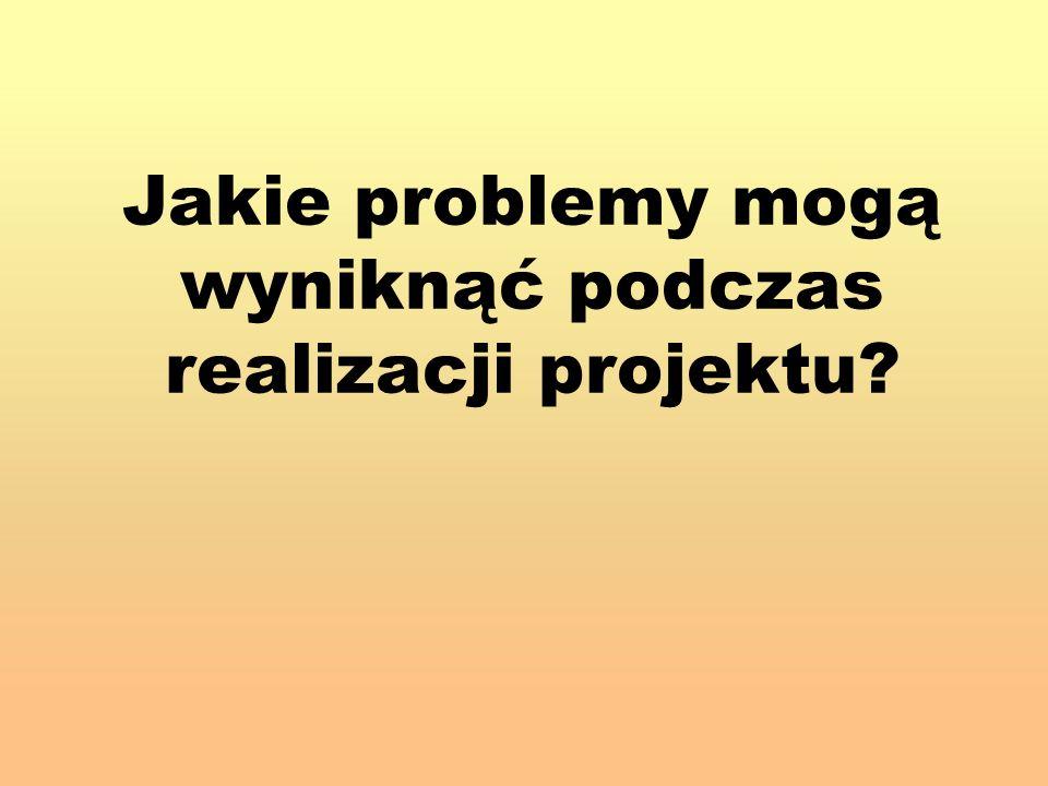 Jakie problemy mogą wyniknąć podczas realizacji projektu