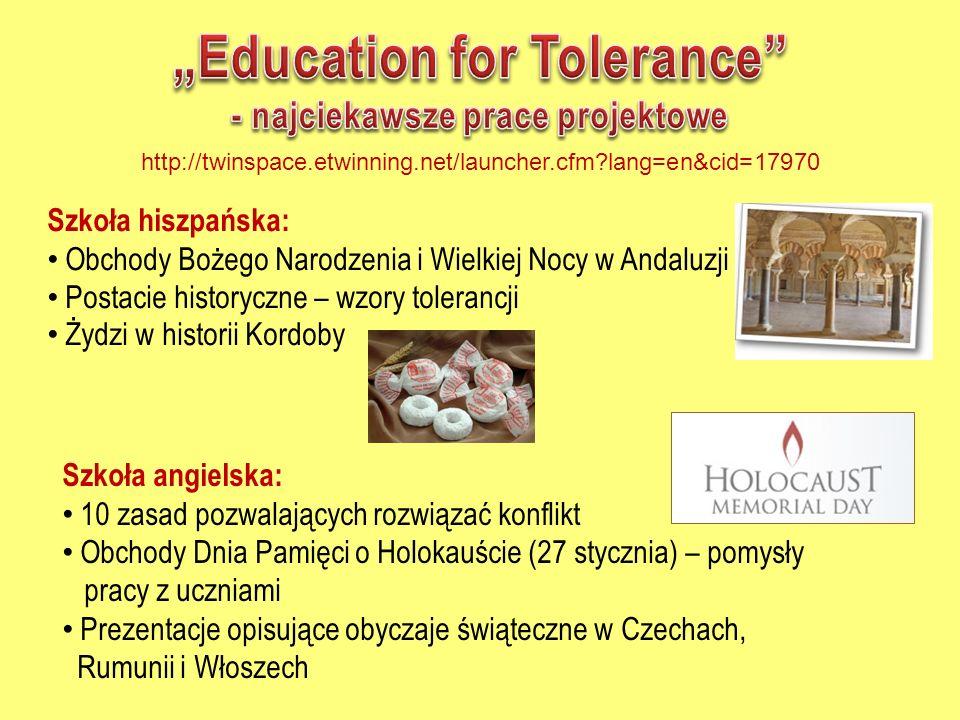 """Education for Tolerance - najciekawsze prace projektowe"