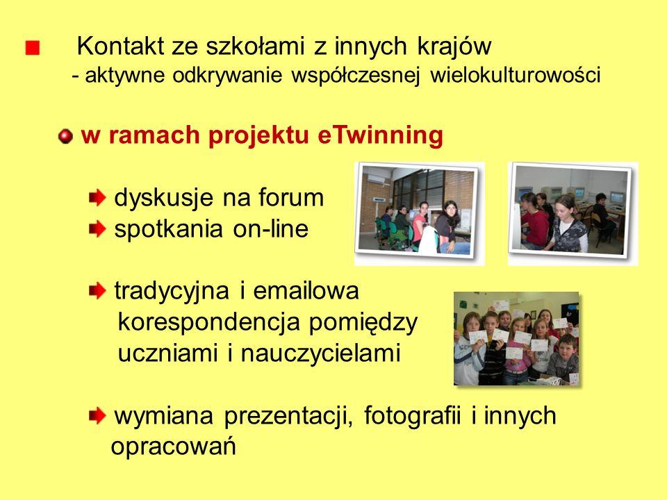 Kontakt ze szkołami z innych krajów