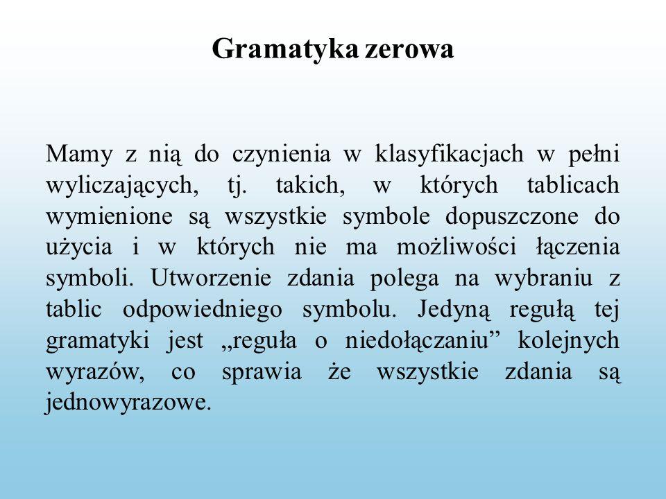 Gramatyka zerowa