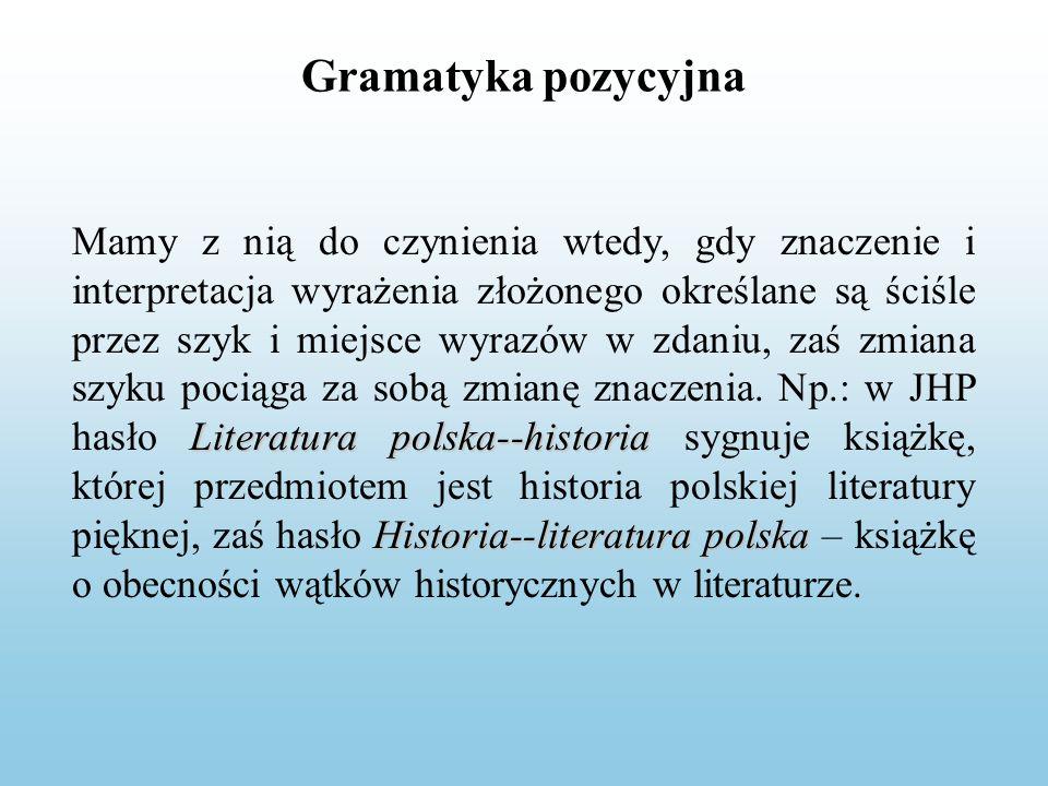 Gramatyka pozycyjna
