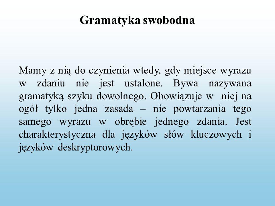 Gramatyka swobodna
