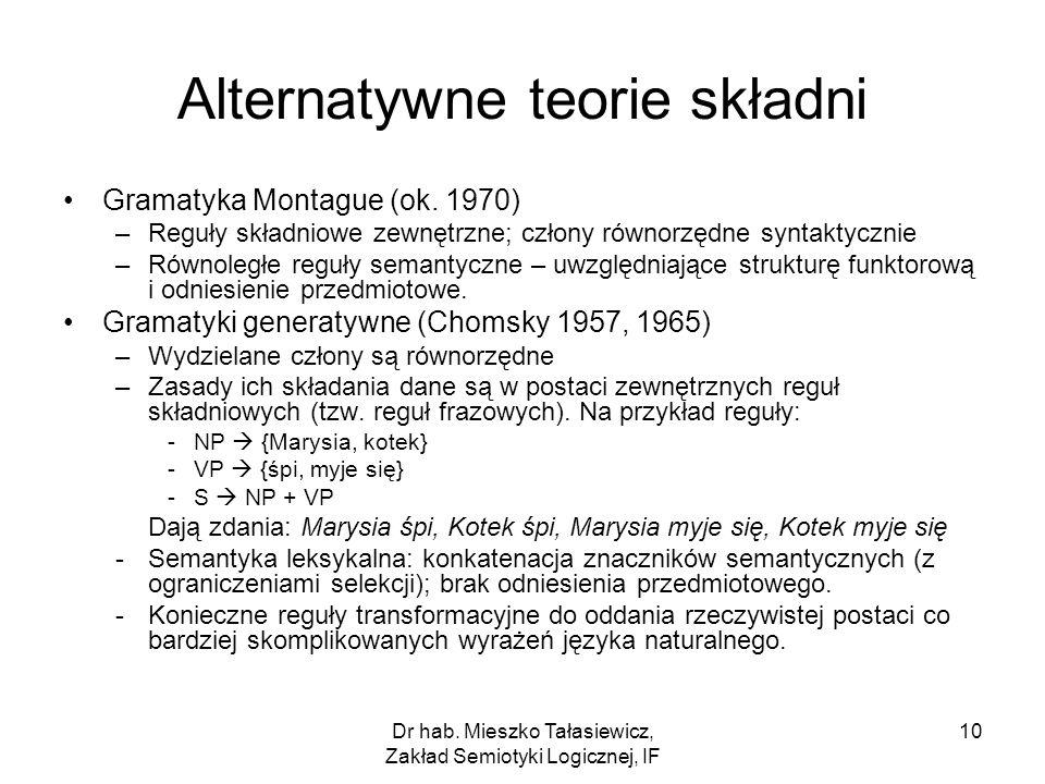 Alternatywne teorie składni