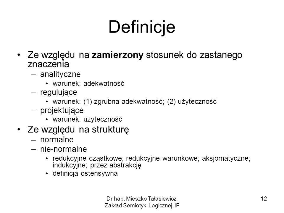 Dr hab. Mieszko Tałasiewicz, Zakład Semiotyki Logicznej, IF