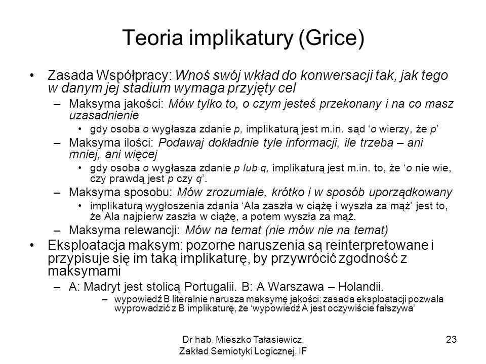 Teoria implikatury (Grice)