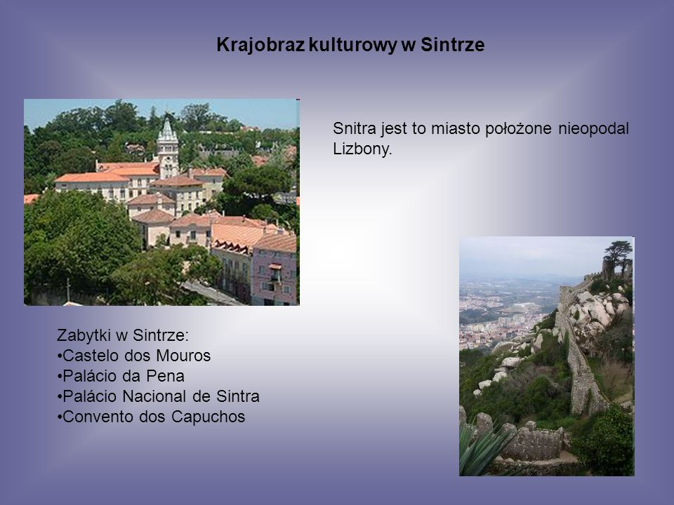 Krajobraz kulturowy w Sintrze