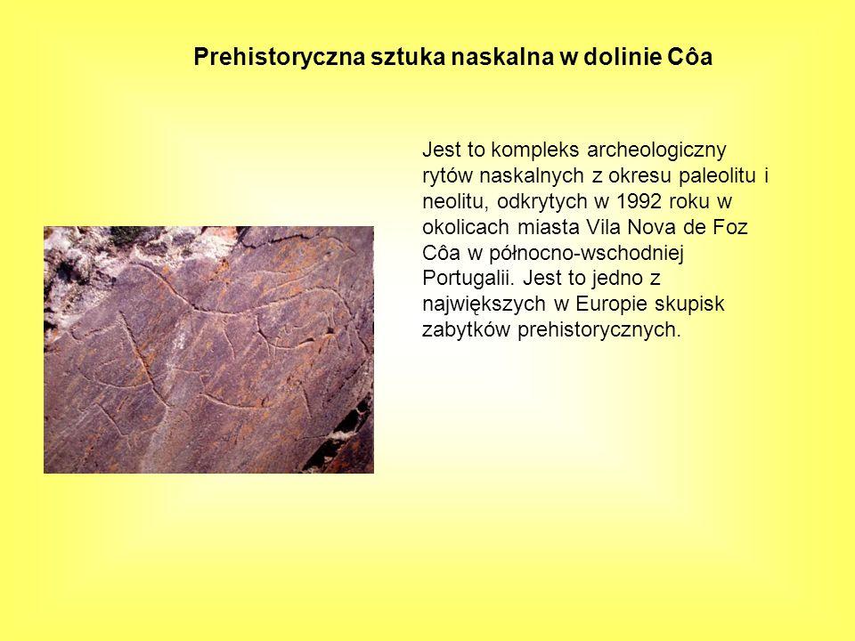 Prehistoryczna sztuka naskalna w dolinie Côa