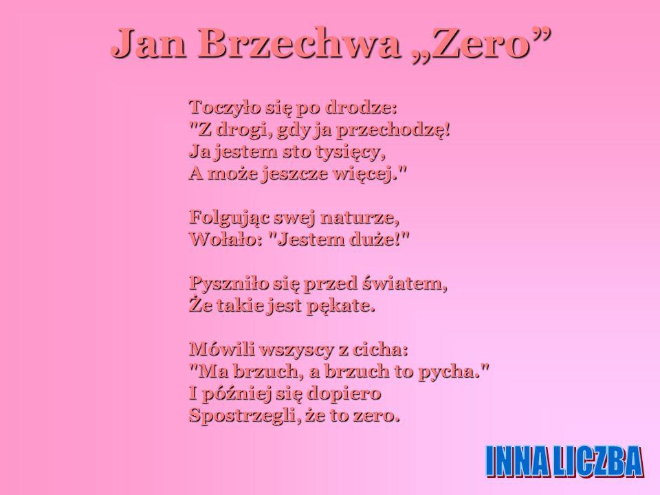 """Jan Brzechwa """"Zero INNA LICZBA"""